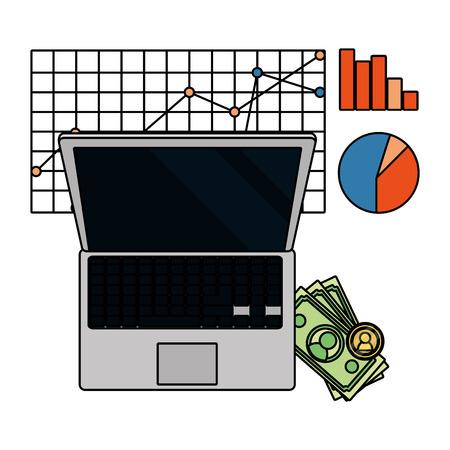 saving money finance elements cartoon vector illustration graphic design Vectores