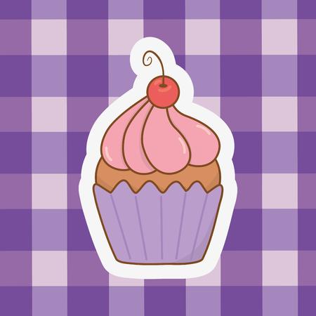cute muffin cartoon