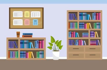 dessin animé de la salle des meubles