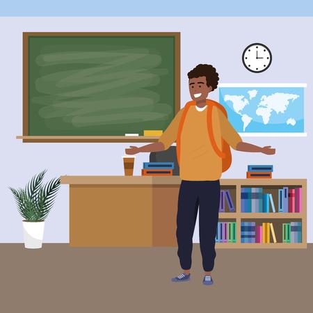 Millennial student indoors classroom
