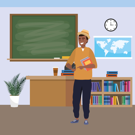 Millennial student indoors classroom Zdjęcie Seryjne - 122299080