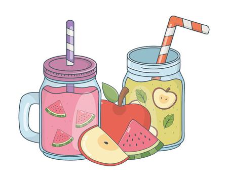 tasty refresh juice cartoon Banco de Imagens - 122299398