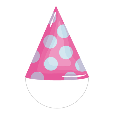 party hat celebration icon vector illustration design  イラスト・ベクター素材