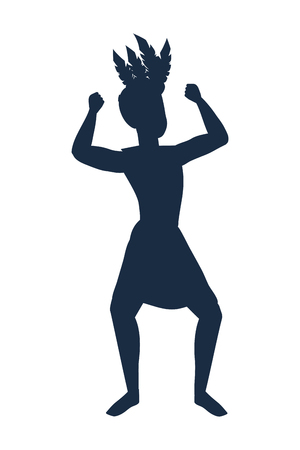man celebrating silhouette