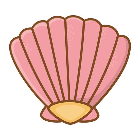 pink shell cartoon
