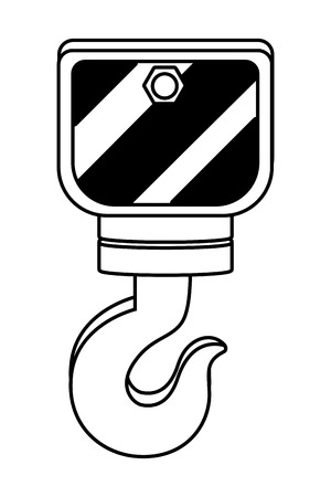 construction architectural hook cartoon vector illustration graphic design