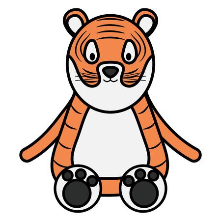 lindo personaje infantil tigre