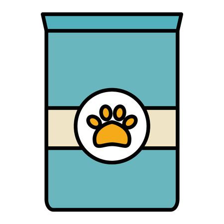 pet food bag icon vector illustration design Ilustração