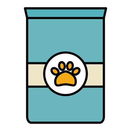 pet food bag icon vector illustration design Stock Illustratie