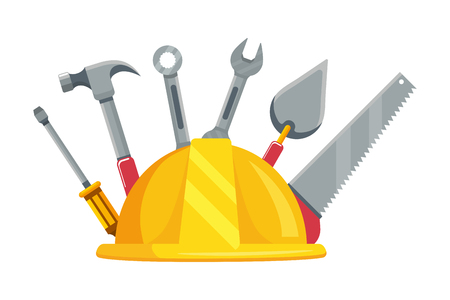 construction architectural tools cartoon vector illustration graphic design
