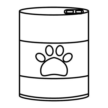 pet food can icon vector illustration design Ilustrace