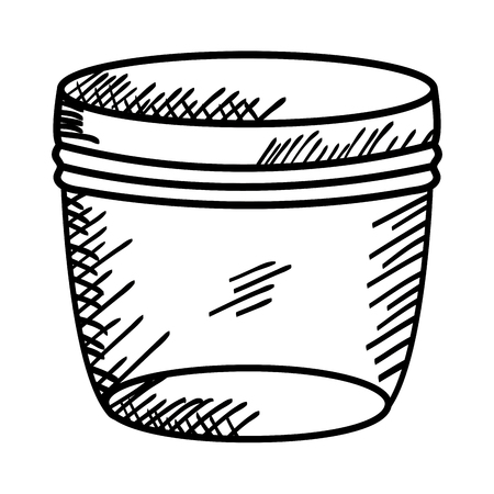 mason jar glass with lid drawing vector illustration design