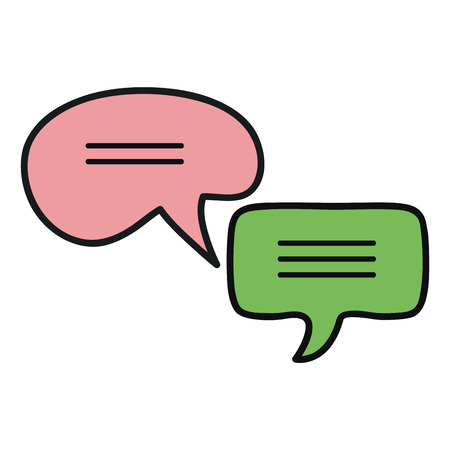 speech bubbles messages icons vector illustration design