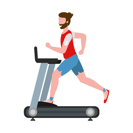 fitness exercise cartoon 일러스트