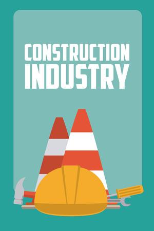 Construction industry concept Иллюстрация