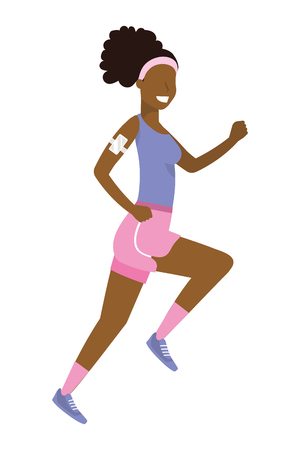 woman running with sportswear