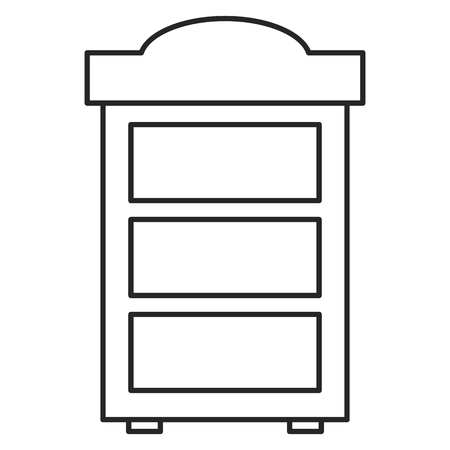 wooden shelf forniture icon