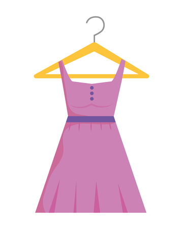 Dress and hanger design, Cloth fashion style wear shop retail and store theme Vector illustration