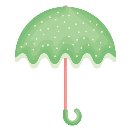 umbrella fashion accessory icon vector illustration design