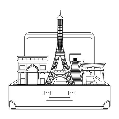 Landmarks and travel design 向量圖像