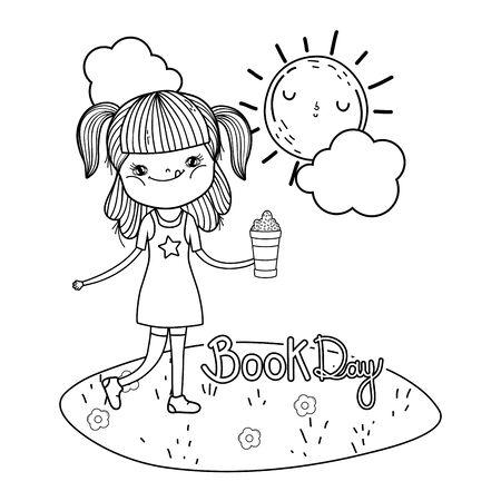 little girl in the landscape
