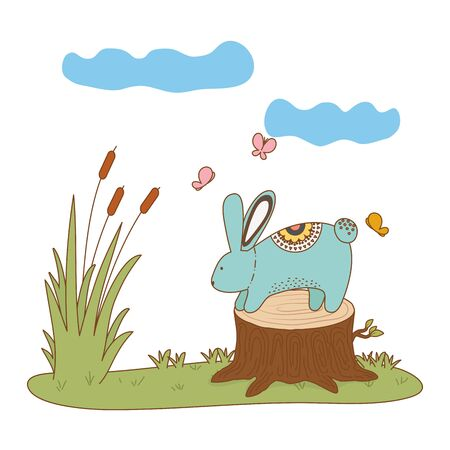 Rabbit cartoon design