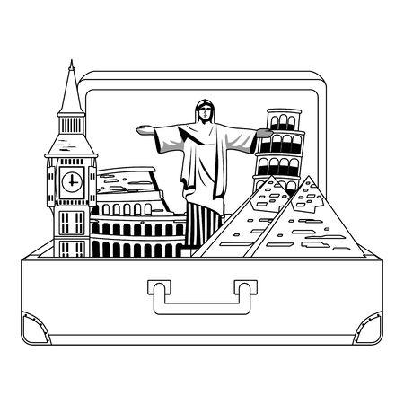 Landmarks and travel design Иллюстрация