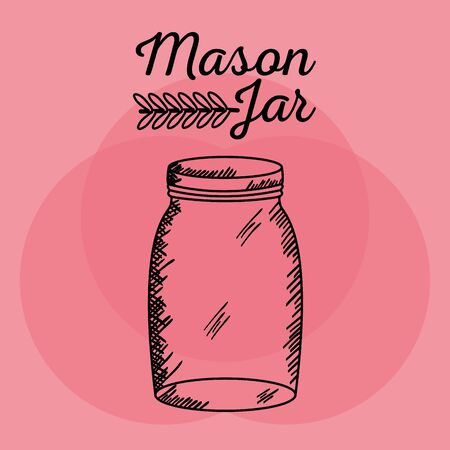 mason jar drawing art