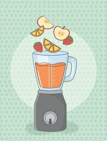 blender with fruits healthy preparation
