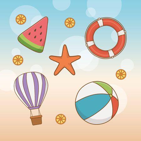 travel vacations set icons vector illustration design Иллюстрация