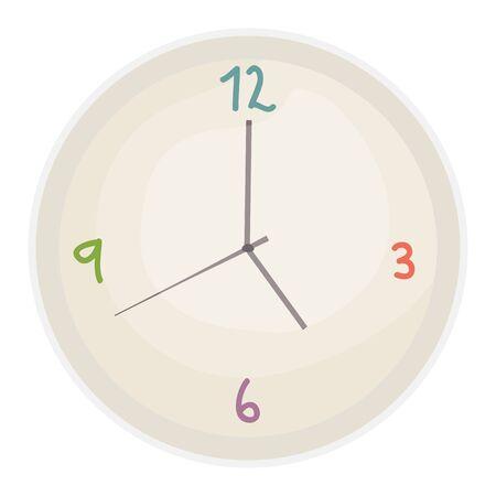 time clock watch of wall vector illustration design Illustration