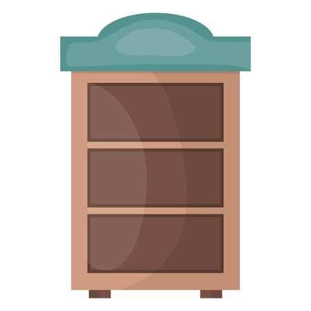 wooden shelf furniture icon square frame and birthday elements vector illustration
