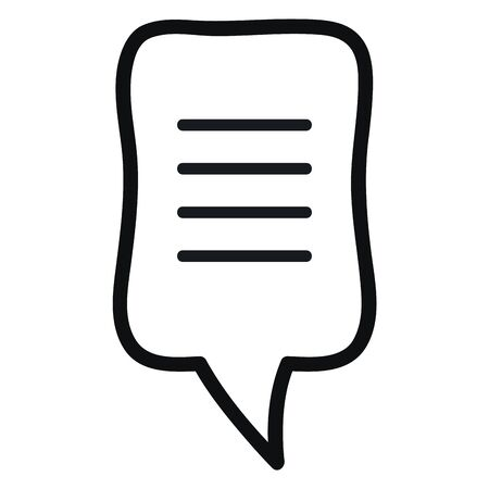 speech bubble message monochrome icon