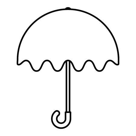 umbrella protection rain icon vector illustration design Illustration