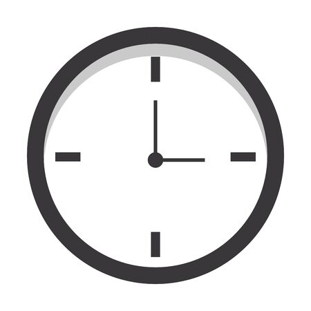 time clock cartoon vector illustration graphic design