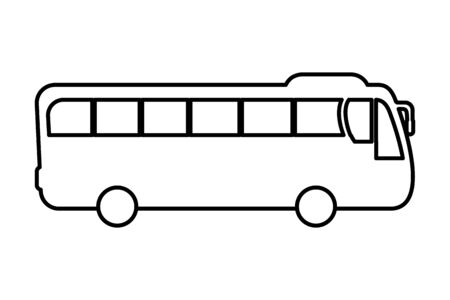 transportation concept bus cartoon vector illustration graphic design