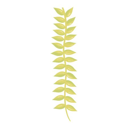 branch with leafs plant vector illustration design  イラスト・ベクター素材