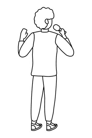 Man with microphone design