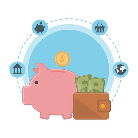Isolated money design Illustration