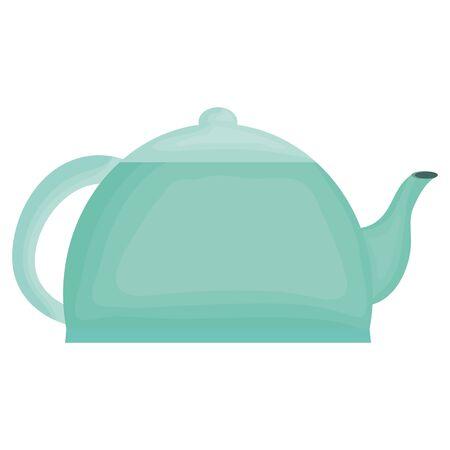 kitchen teapot element icon Illustration
