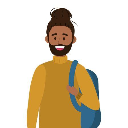 young happy man cartoon