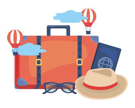 Suitcase design, Travel baggage luggage bag tourism vacation and trip theme Vector illustration  イラスト・ベクター素材