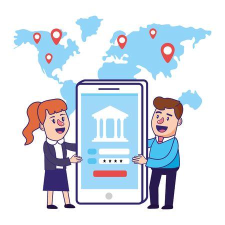 Banking teamwork financial planning