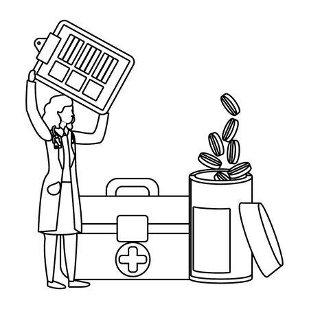 healthcare medical cartoon Иллюстрация