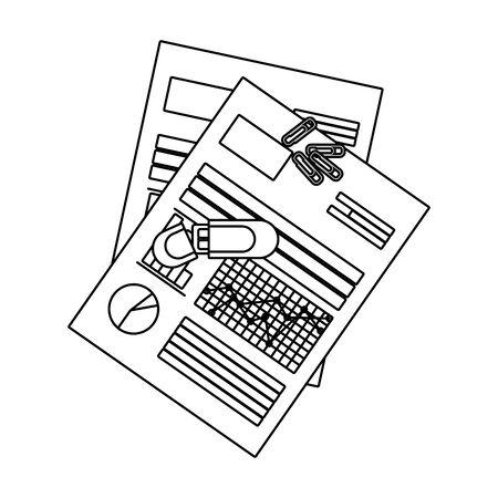 personal finance business elements cartoon vector illustration graphic design Archivio Fotografico - 125050743