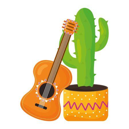 mexican cactu plant icon vector illustration design