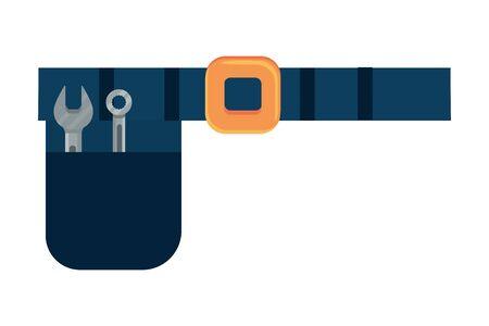 construction architectural tools belt cartoon vector illustration graphic design Çizim