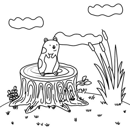 cute pet animal cartoon 일러스트