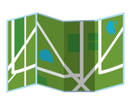 city map icon isolated vector illustration graphic design