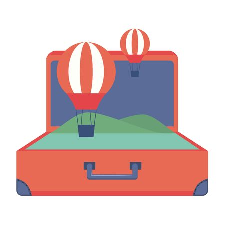 Suitcase design, Travel baggage luggage bag tourism vacation and trip theme Vector illustration Ilustrace